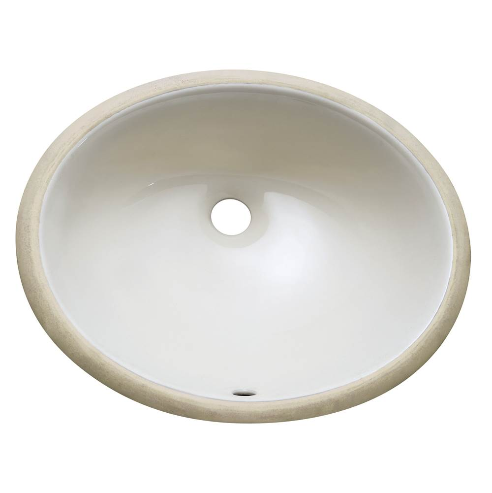Avanity Undermount 18 in. Oval Vitreous China ceramic sink in Linen