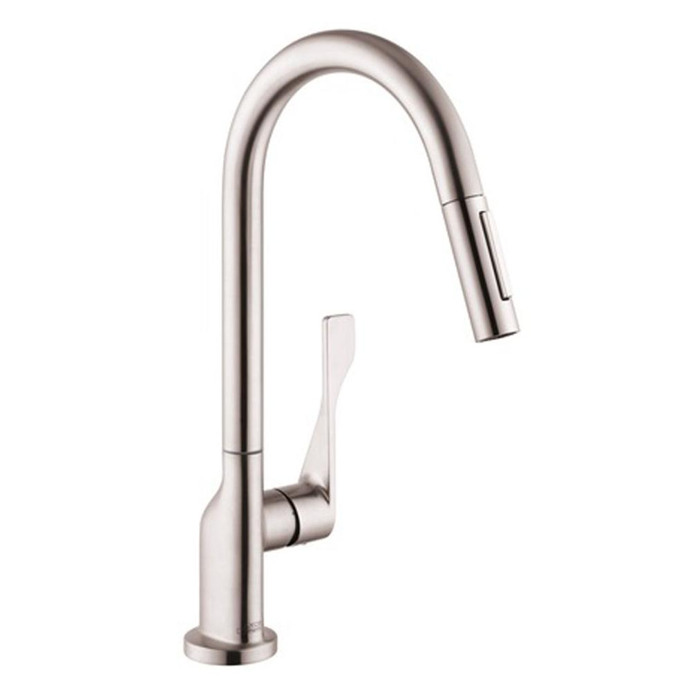 Axor AXOR Citterio HighArc Kitchen Faucet 2-Spray Pull-Down, 1.75 GPM in Steel Optic