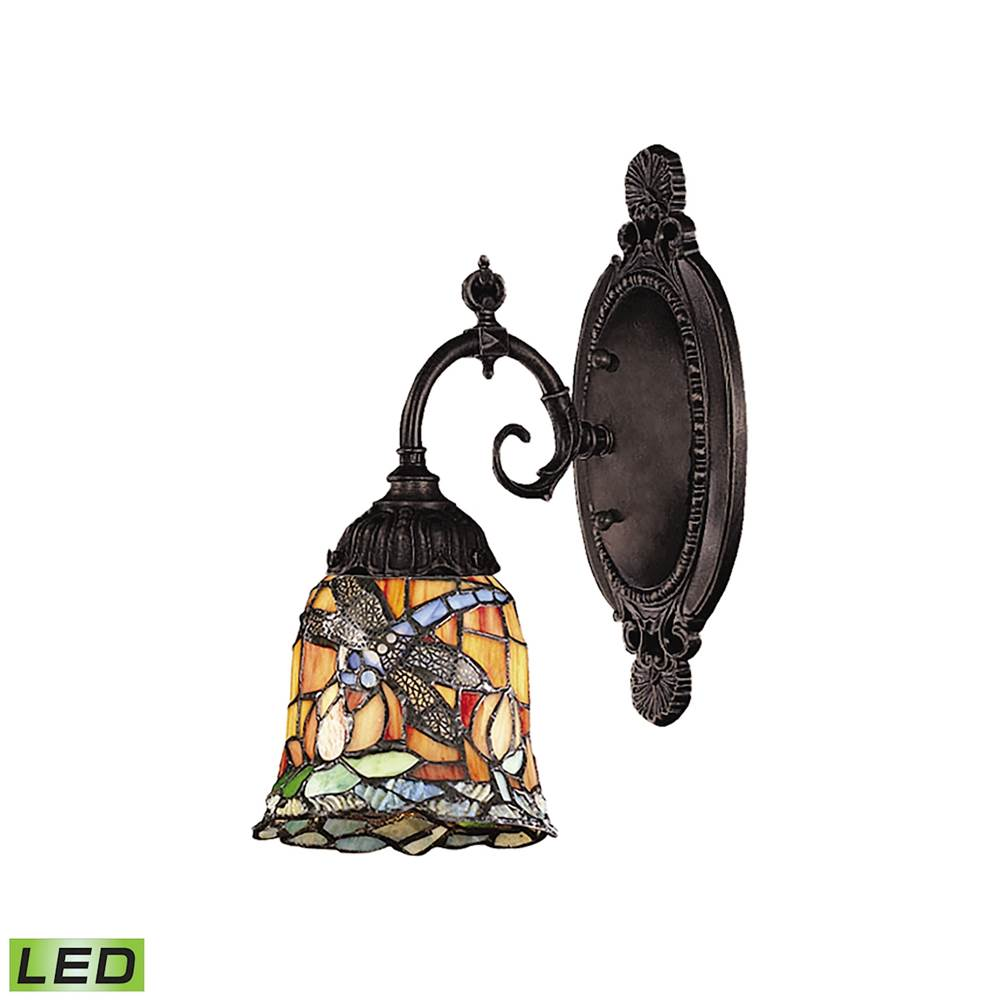 Elk Lighting Mix-N-Match 1-Light Wall Lamp in Tiffany Bronze with Tiffany Style Glass - Includes LED Bulb