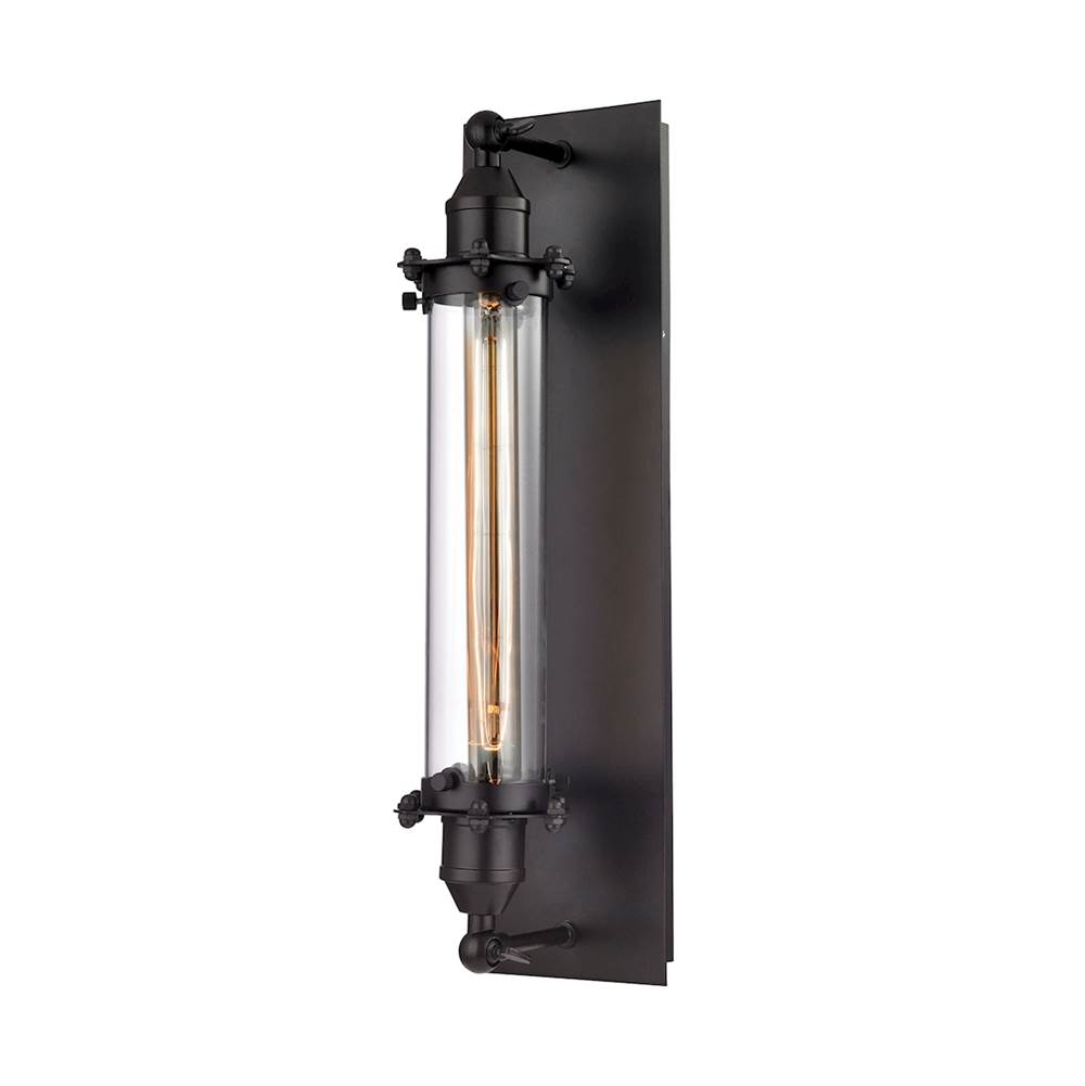 Elk Lighting Fulton 1-Light Wall Lamp in Oil Rubbed Bronze with Clear Glass