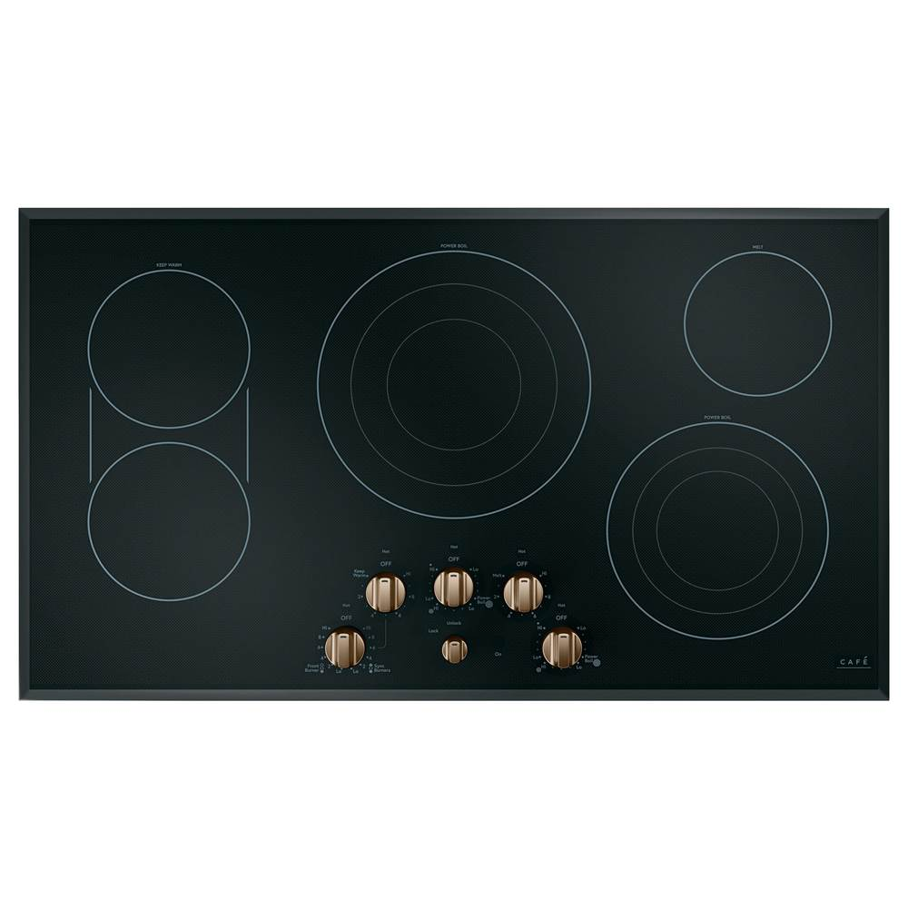 GE Cafe Series Cafe 36'' Knob-Control Electric Cooktop