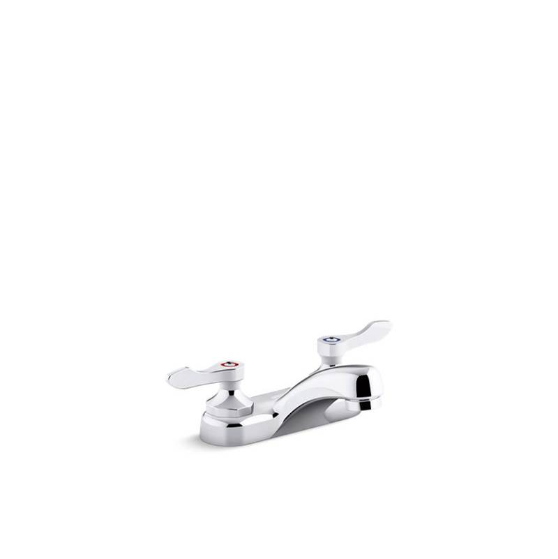 Kohler Triton Bowe 1.0 gpm Centerset Bathroom Sink Faucet with Laminar Flow and Lever Handles, Drain Not Included