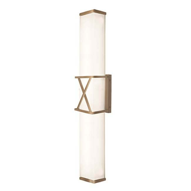 Kuzco Rectangular With X Metal Detail And Frosted White Glass, X Will Certainly Mark The Spot. Provides Ambient And Clear Light To Illuminate Your Spac…
