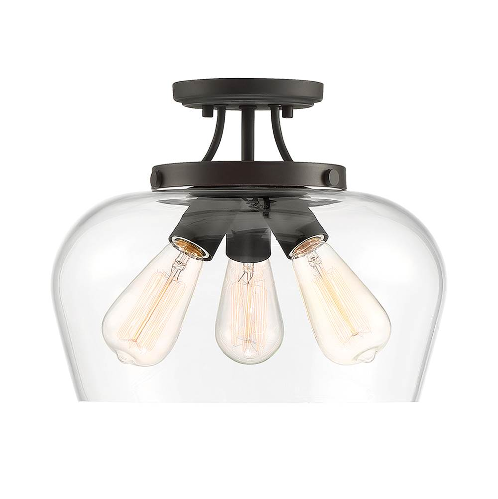 Savoy House Octave 3 Light Semi Flush