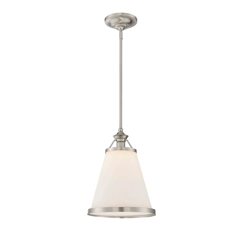 Savoy House Ashmont 1 Light Satin Nickel Pendant