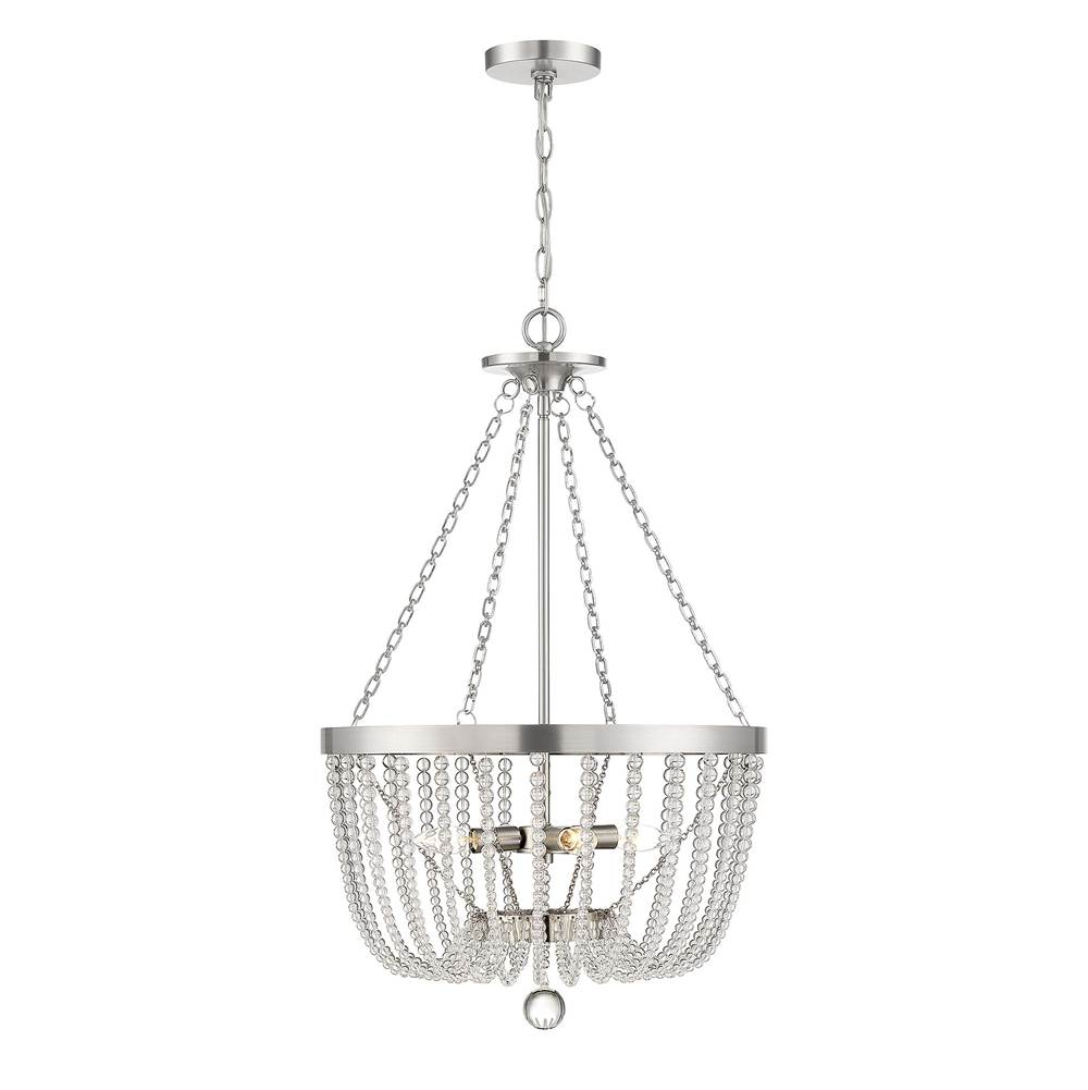 Savoy House Bergamo Antique Nickel 4 Light Pendant