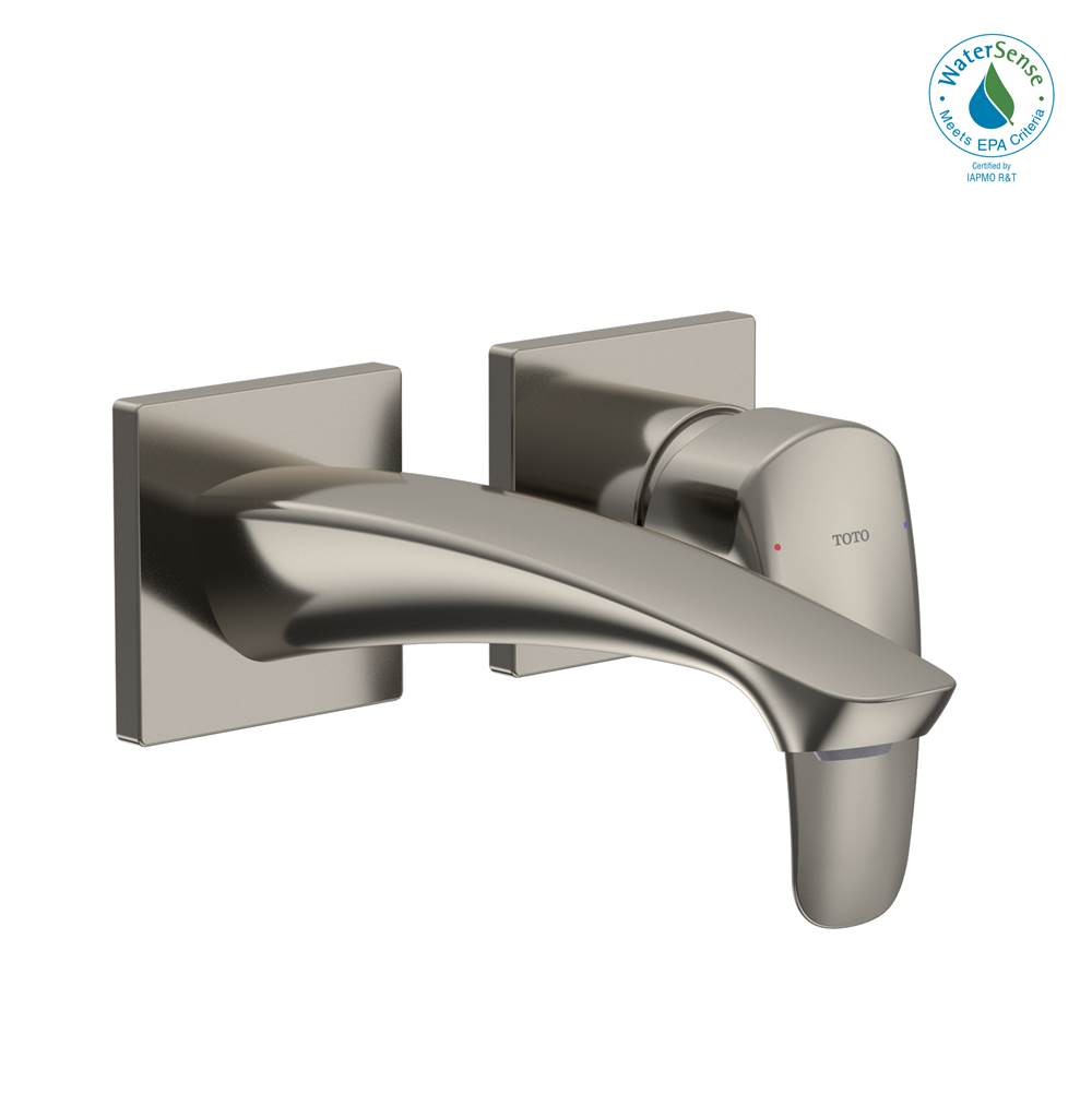 Toto TOTO® GM 1.2 GPM Wall-Mount Single-Handle Bathroom Faucet with COMFORT GLIDE Technology, Polished Nickel - TLG09307U#PN