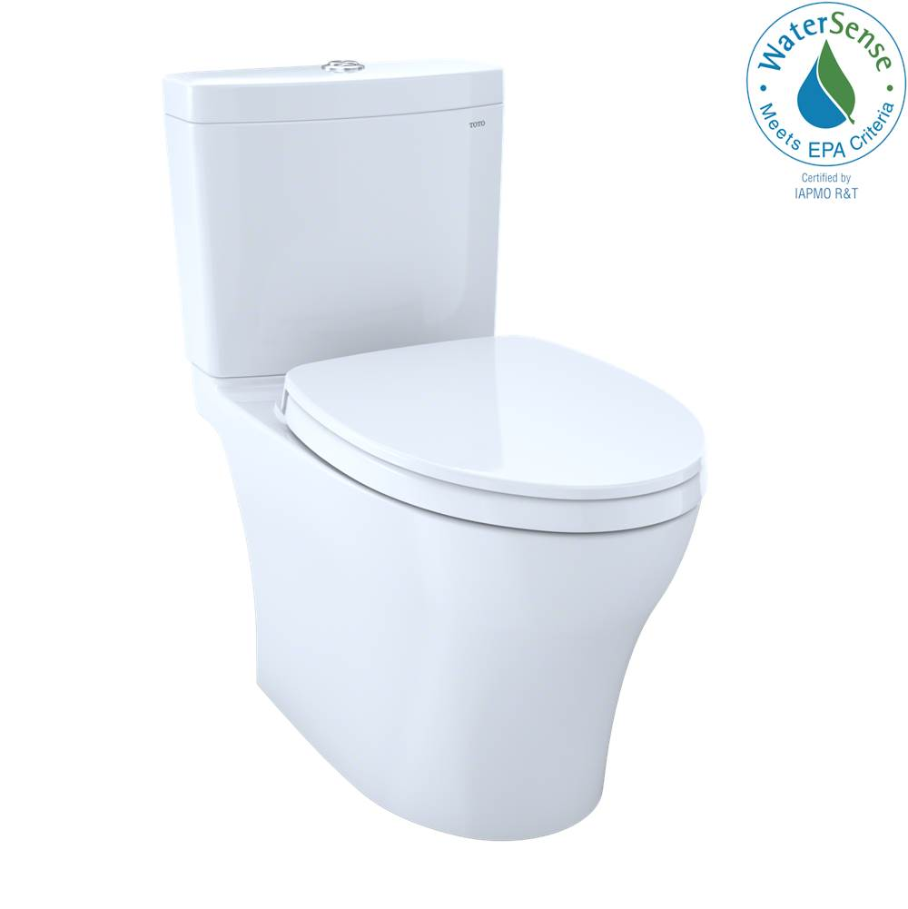 Toto Aquia® IV 1G® Two-Piece Elongated Dual Flush 1.0 and 0.8 GPF Universal Height Toilet with CEFIONTECT®, WASHLET®+ Ready, Cotton White