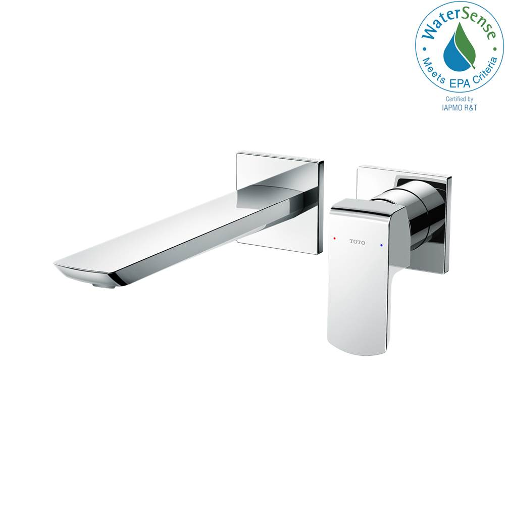 Toto GR 1.2 GPM Wall-Mount Single-Handle Bathroom Faucet with COMFORT GLIDE™ Technology, Polished Chrome