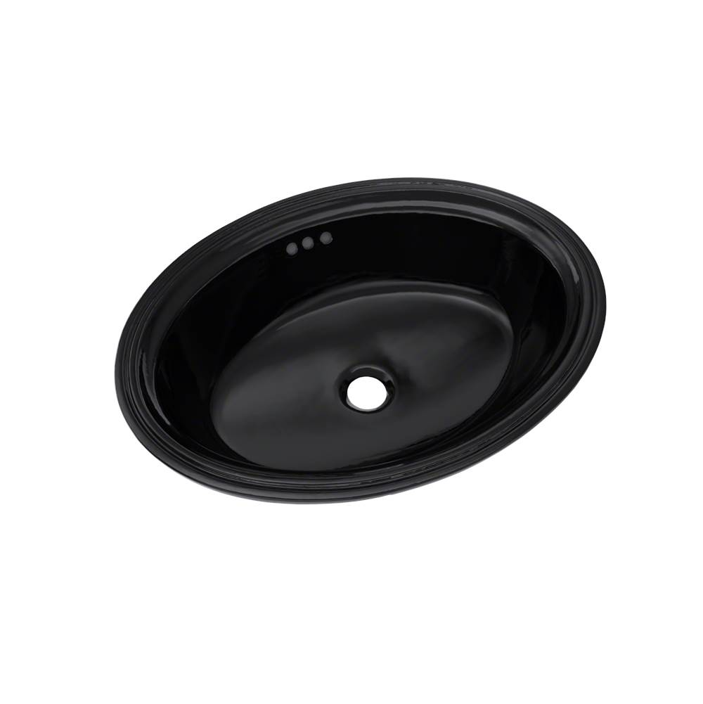 Toto Dartmouth® 18-3/4'' x 13-3/4'' Oval Undermount Bathroom Sink, Ebony