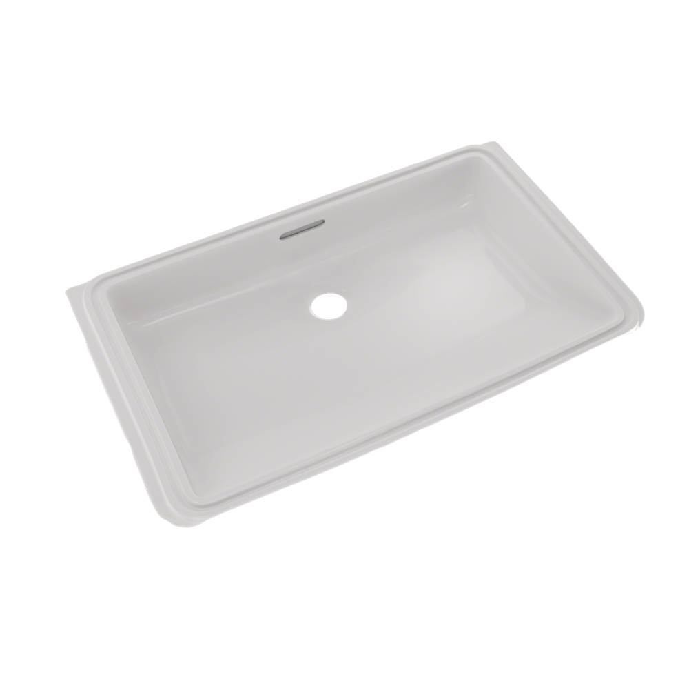 Toto Rectangular Undermount Bathroom Sink with CEFIONTECT, Colonial White