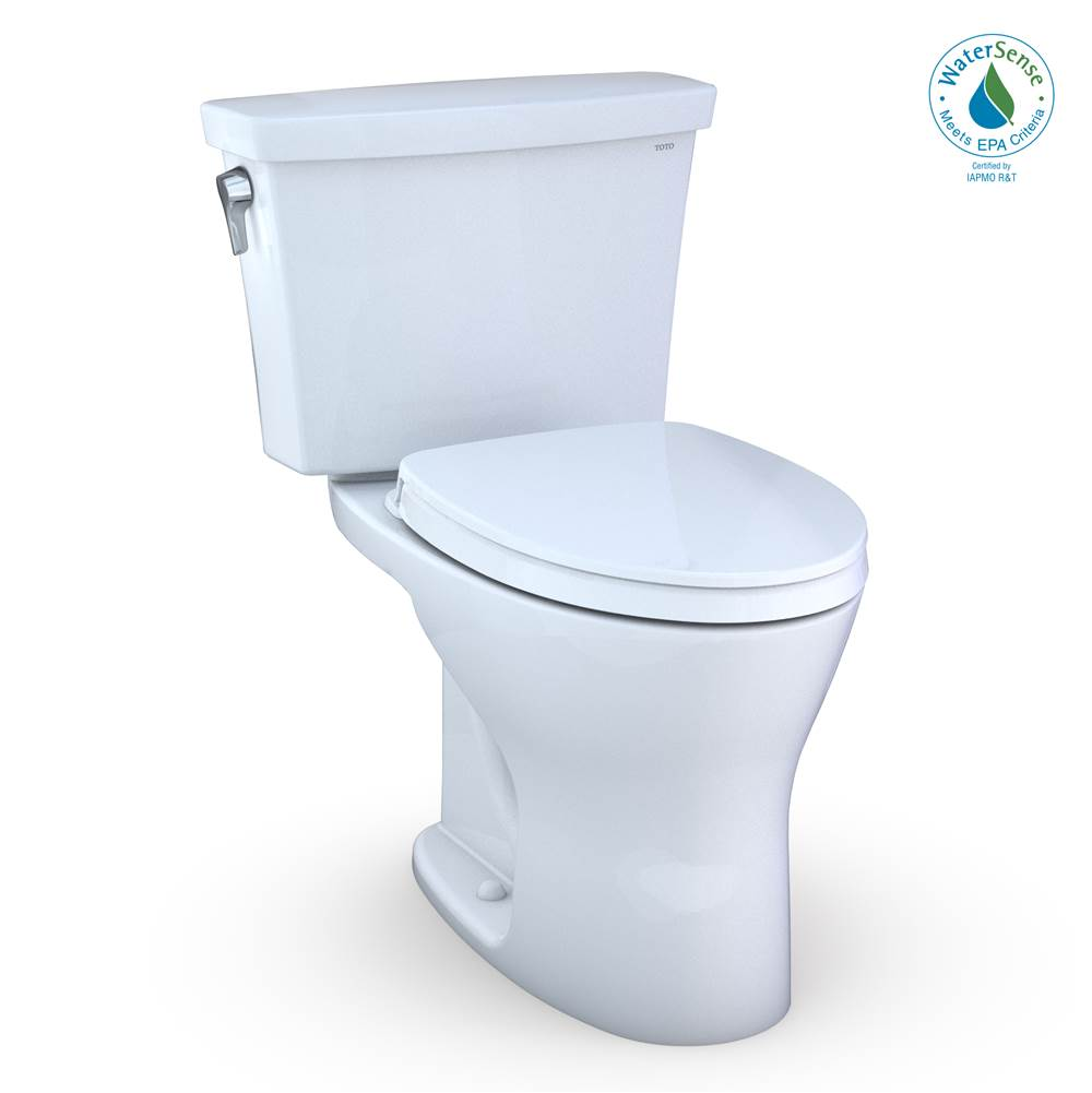 Toto Drake® Transitional Two-Piece EL Dual Flush 1.28, 0.8 GPF DYNAMAX TORNADO FLUSH® Toilet with CEFIONTECT®, SoftClose Seat, WASHLET+ Ready,