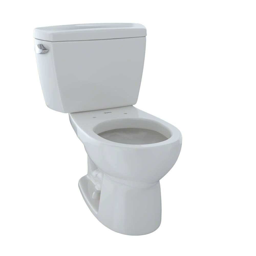 Toto Drake® Two-Piece Round 1.6 GPF Toilet, Colonial White