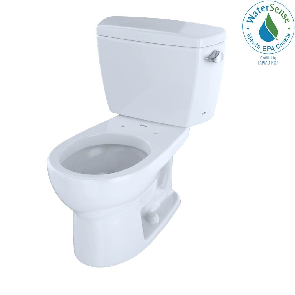 Toto Eco Drake® Two-Piece Round 1.28 GPF Toilet with Right-Hand Trip Lever, Cotton White