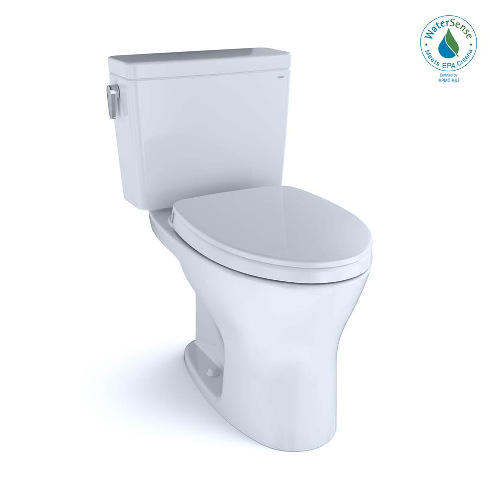 Toto Drake® 1G® Two-Piece EL Dual Flush 1.0, 0.8 GPF Unv. Height DYNAMAX TORNADO FLUSH® Toilet with CEFIONTECT®, SoftClose Seat, WASHLET+ Ready