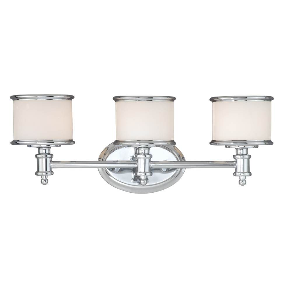 Vaxcel Carlisle 3 Light Chrome Bathroom Vanity Fixture