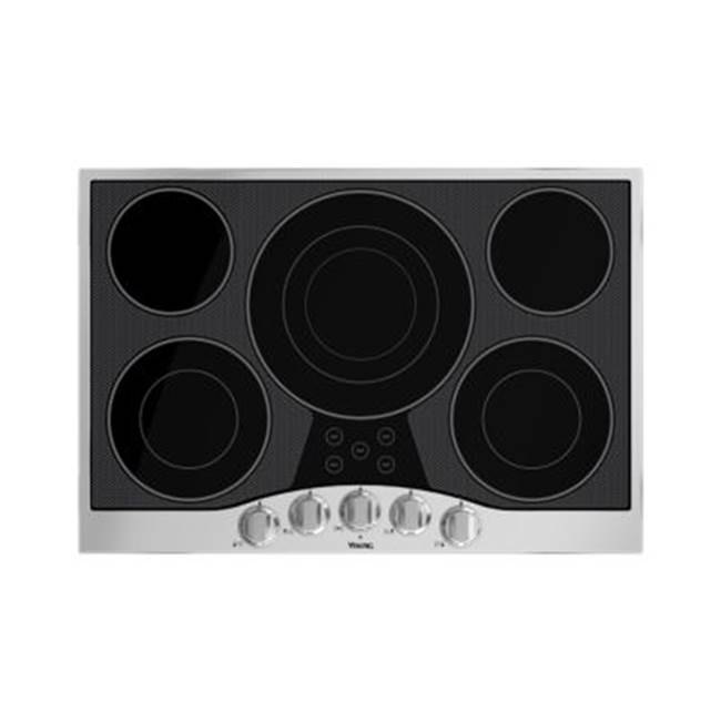 Viking 30''W. Electric Radiant Cooktop-5 Elements-Stainless Black