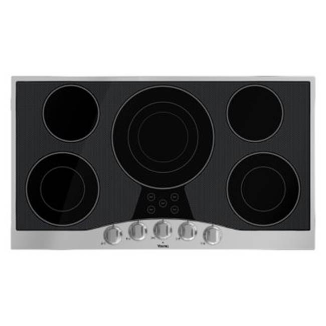 Viking 36''W. Electric Radiant Cooktop-5 Elements-Stainless Black
