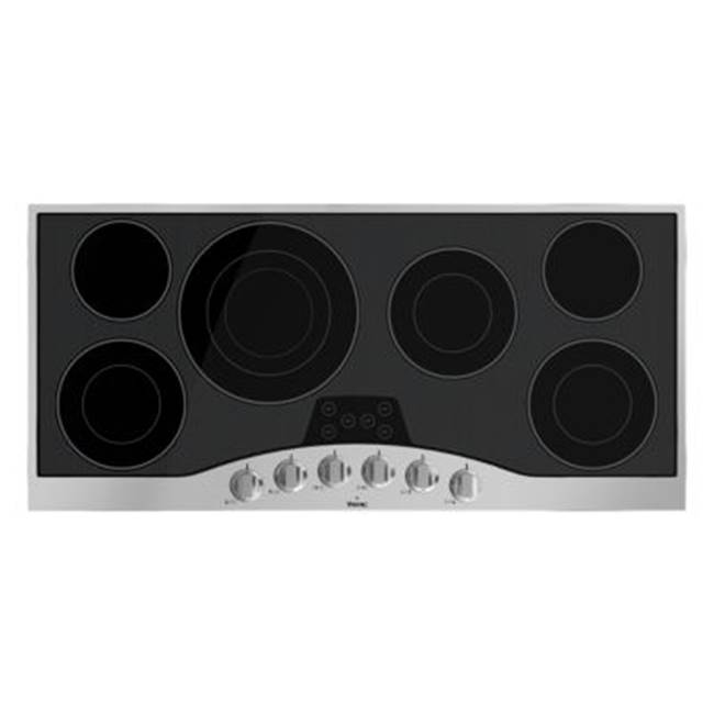Viking 45''W. Electric Radiant Cooktop-6 Elements-Stainless Black